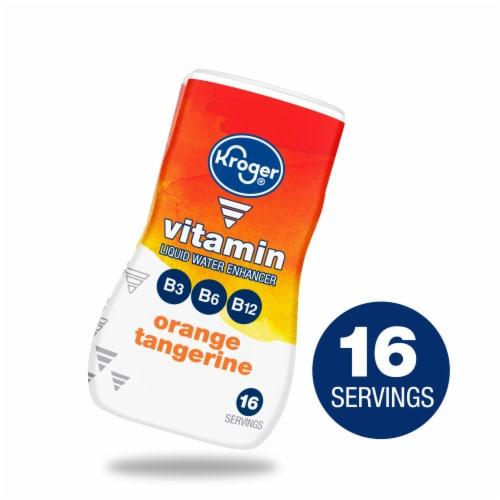 Kroger® Orange Tangerine Vitamin Liquid Water Enhancer Perspective: front