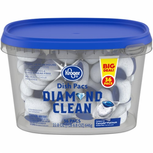 Kroger® Diamond Clean Dish Pacs 36 Count Perspective: front