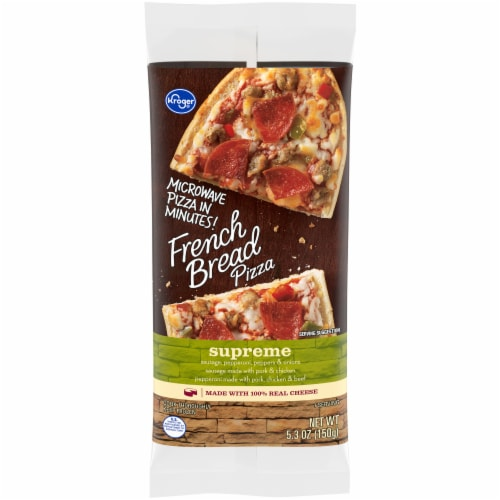 Kroger® Supreme French Bread Pizza Perspective: front