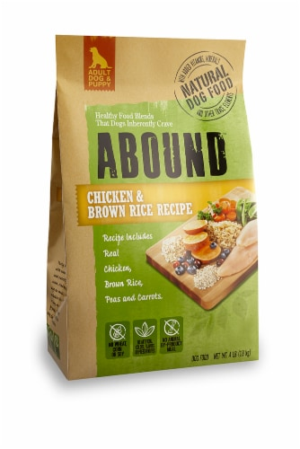 ABOUND™ Chicken & Brown Rice Dog Food Perspective: front