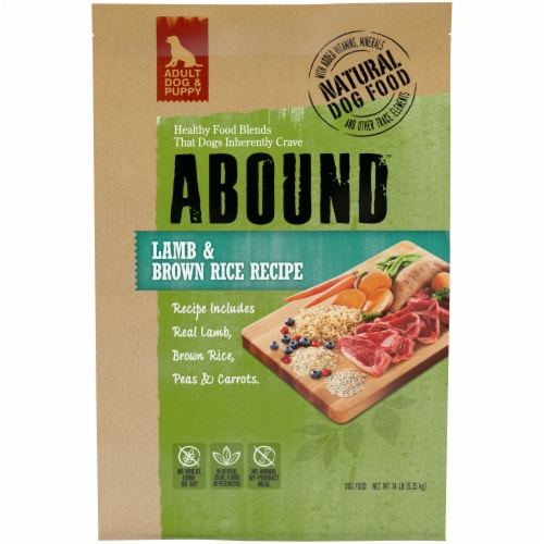 Abound™ Lamb & Brown Rice Dog Food Perspective: front