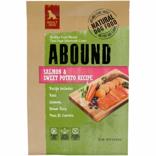 Abound™ Salmon & Sweet Potato Recipe Adult Dry Dog Food Perspective: front