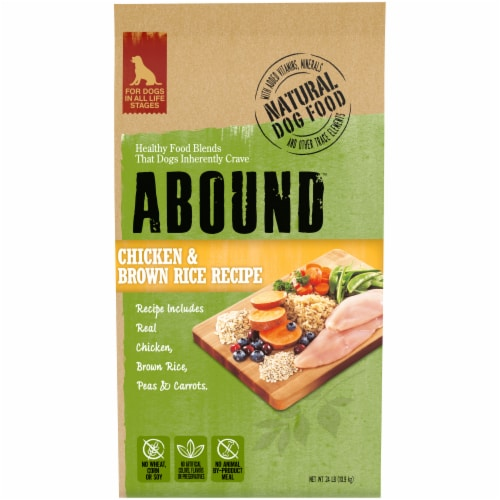 Abound™ Chicken & Brown Rice Recipe Dog Food Perspective: front
