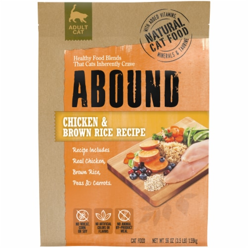 Abound™ Chicken & Brown Rice Recipe Adult Cat Food Perspective: front