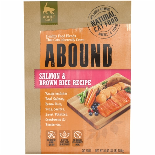 Abound™ Salmon & Brown Rice Recipe Adult Cat Food Perspective: front