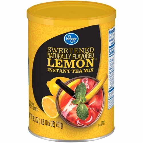 Kroger®  Sweetened Lemon Instant Tea Mix Canister Perspective: front