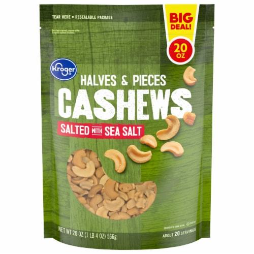 Kroger® Salted Cashews Halves & Pieces Perspective: front