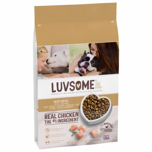 Luvsome® Natural Real Chicken Adult Dog Food Perspective: front