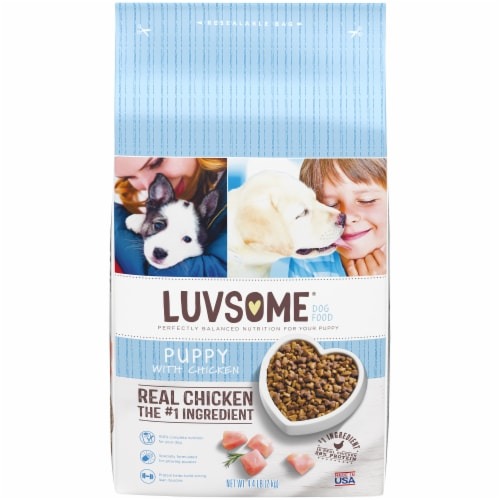 Luvsome® Chicken Puppy Dog Food Perspective: front