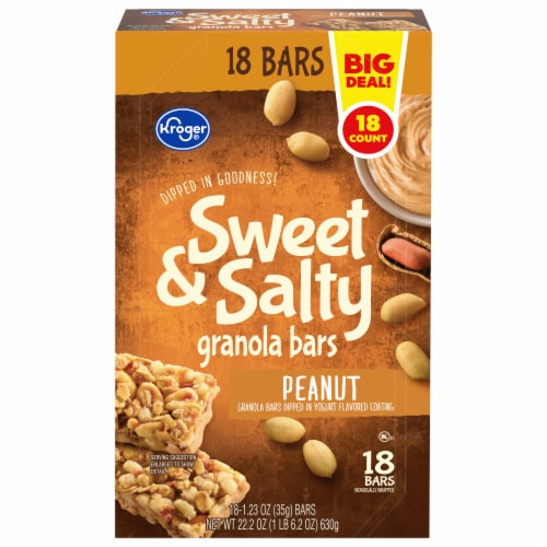 Kroger® Sweet & Salty Peanut Granola Bars Perspective: front