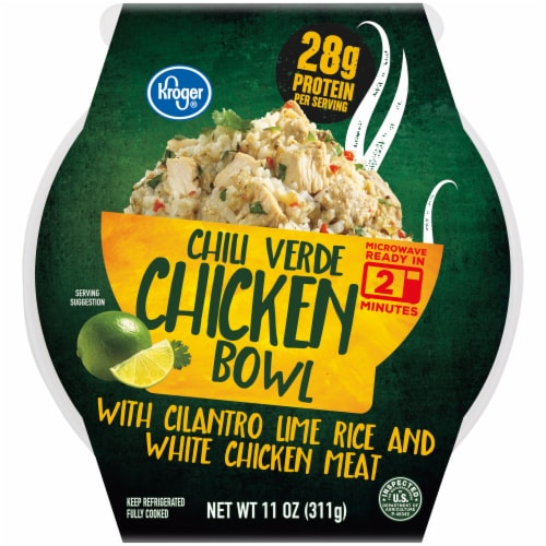Kroger® Chili Verde Chicken with Cilantro Lime Rice Bowl Perspective: front