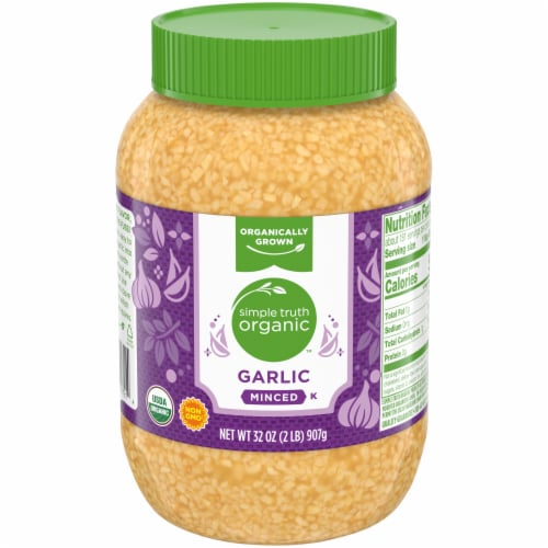 Simple Truth Organic™ Minced Garlic Jar Perspective: front