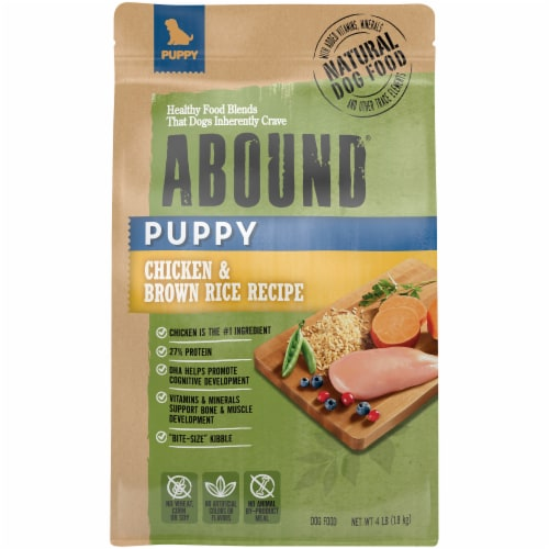 Abound® Chicken & Brown Rice Puppy Food Perspective: front