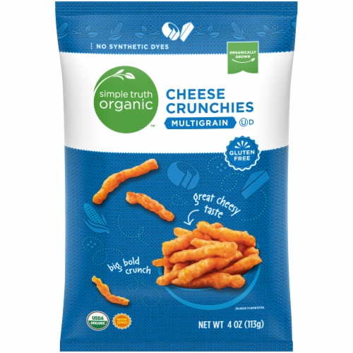 Simple Truth Organic™ Multigrain Cheese Crunchies Perspective: front