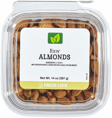 Raw Almonds Perspective: front