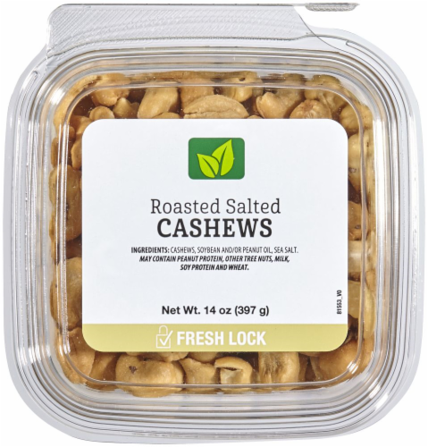 Roasted Salted Cashews Perspective: front