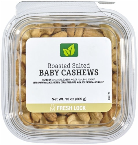 Roasted Salted Baby Cashews Perspective: front