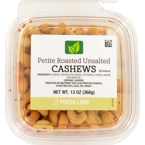 Petite Roasted Unsalted Cashews Perspective: front