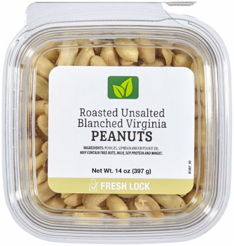 Roasted Unsalted Blanched Virginia Peanuts Perspective: front