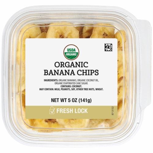 Organic Banana Chips Perspective: front