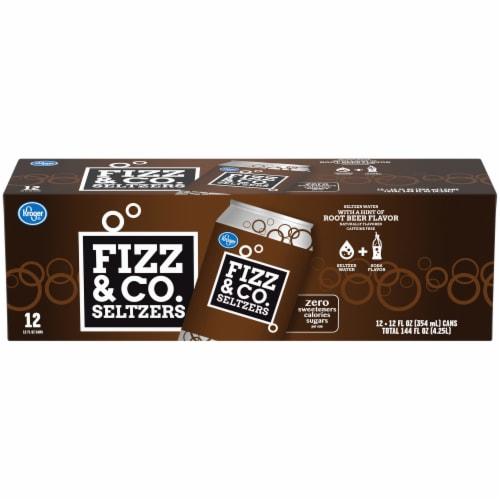 Kroger® Fizz & Co. Root Beer Flavored Seltzer Water Perspective: front