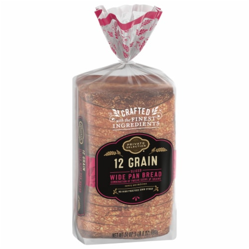 Private Selection® 12-Grain Sliced Wide Pan Bread Perspective: front
