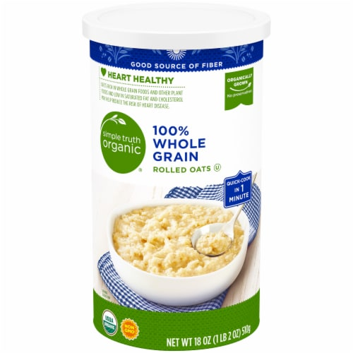 Simple Truth Organic® 100% Whole Grain Rolled Oats Perspective: front