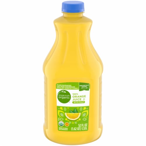 Simple Truth Organic® 100% Orange Juice with Pulp Perspective: front