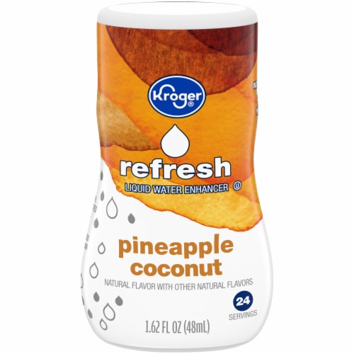 Kroger® Refresh Pineapple Coconut Liquid Water Enhancer Perspective: front