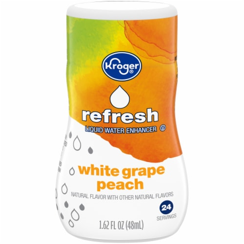 Kroger® Peach & White Grape Liquid Water Enhancer Perspective: front