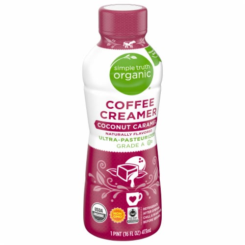 Simple Truth Organic™ Coconut Caramel Coffee Creamer Perspective: front