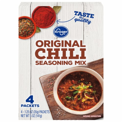 Kroger® Original Chili Seasoning Mix Packets Perspective: front