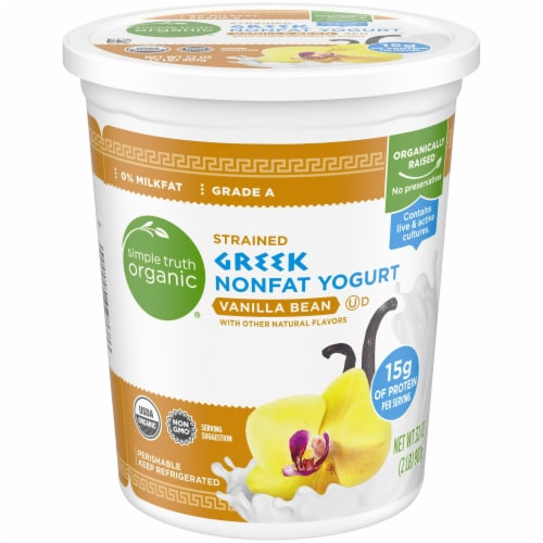 Simple Truth Organic® Strained Vanilla Bean Greek Nonfat Yogurt Perspective: front