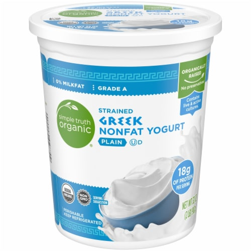 Simple Truth Organic® Plain Strained Greek Nonfat Yogurt Perspective: front