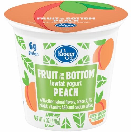 Kroger® Peach Fruit on the Bottom Lowfat Yogurt Perspective: front