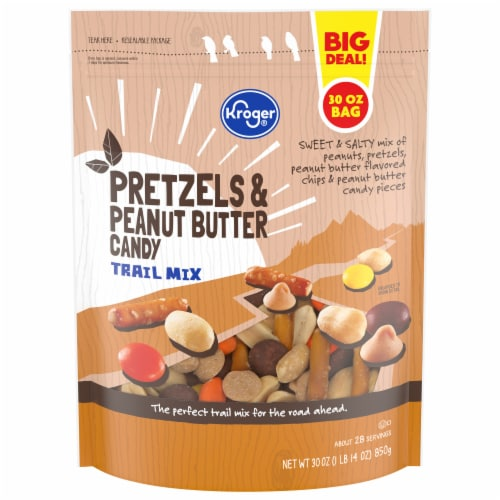 Kroger® Peanut Butter Favored Pretzel Trail Mix Perspective: front