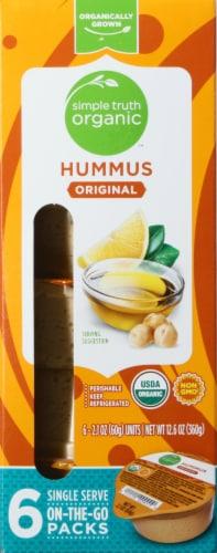 Simple Truth Organic™ Original Hummus 6-2.1 oz Packs Perspective: front