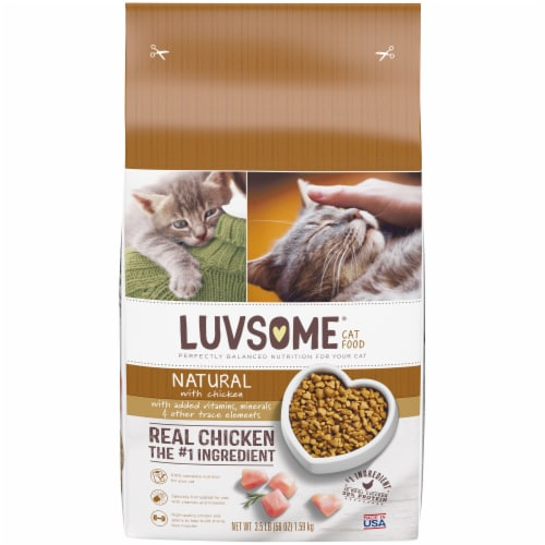 Luvsome™ Natural Chicken Cat Food Perspective: front