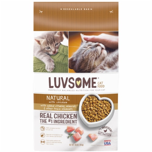 Luvsome® Natural with Chicken Adult Cat Food Perspective: front
