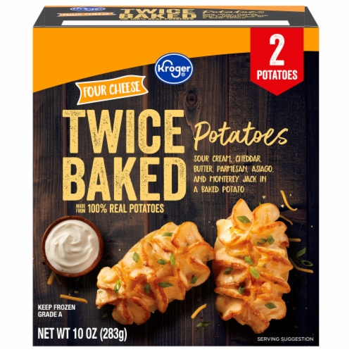 Kroger® Four Cheese Twice Baked Potatoes 2 Count Perspective: front