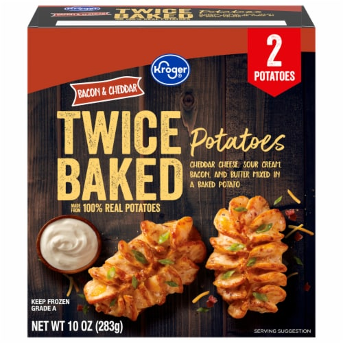 Kroger® Bacon & Cheddar Twice Baked Potatoes Perspective: front