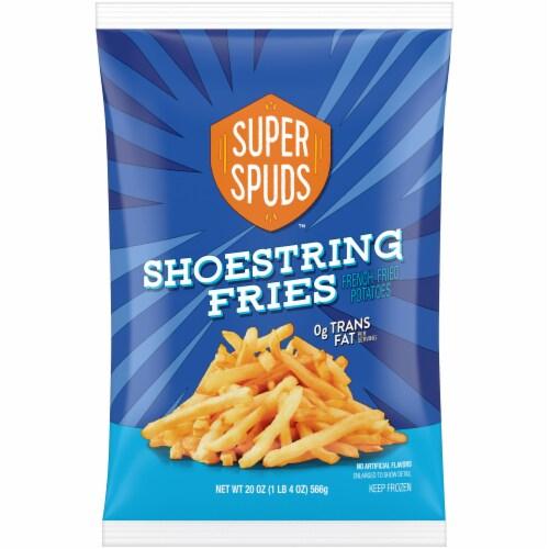 Super Spuds Shoestring Fries Perspective: front