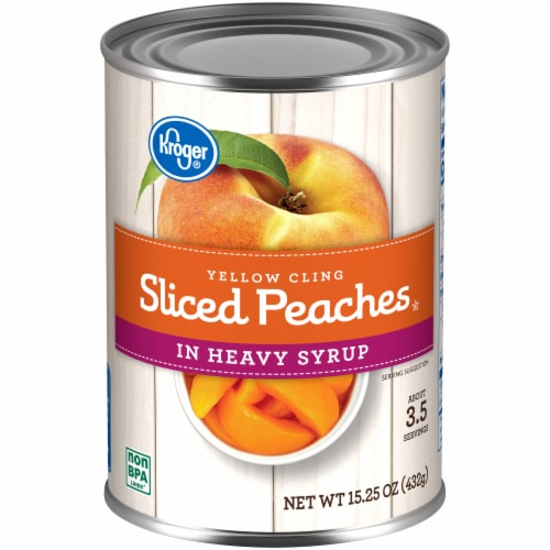 Kroger® Sliced Yellow Cling Peaches in Heavy Syrup Perspective: front