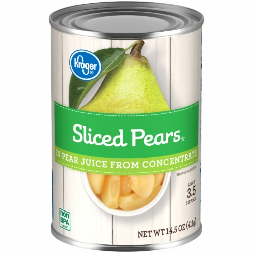 Kroger® Sliced Pears in Pear Juice from Concentrate Perspective: front