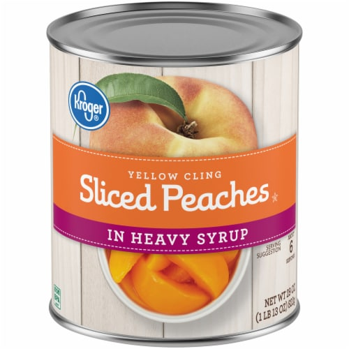 Kroger® Sliced Peaches in Heavy Syrup Perspective: front