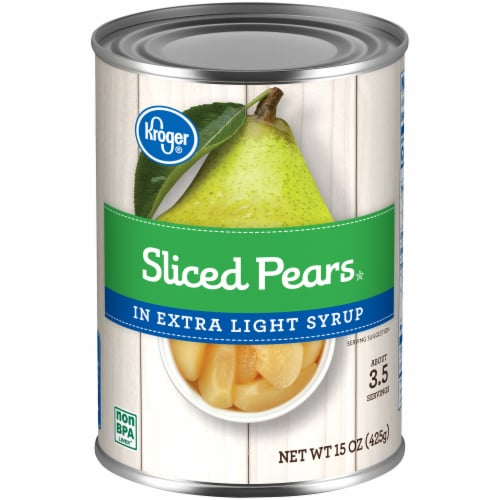 Kroger® Sliced Pears in Extra Light Syrup Perspective: front
