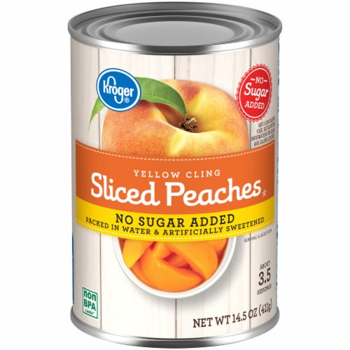 Kroger® Yellow Cling No Sugar Added Sliced Peaches Perspective: front