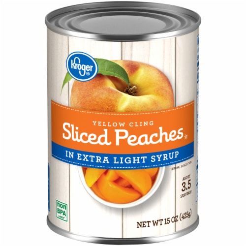 Kroger® Yellow Cling Sliced Peaches in Extra Light Syrup Perspective: front