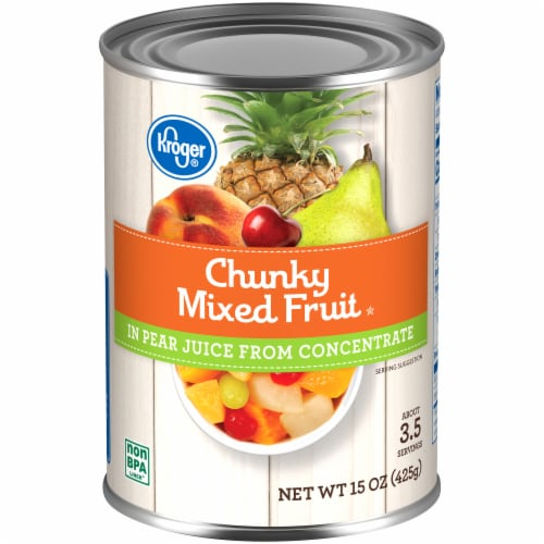 Kroger®  Chunky Mixed Fruit in Pear Juice Perspective: front