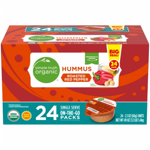 Simple Truth Organic™ Roasted Red Pepper Hummus On-the-Go Packs Perspective: front